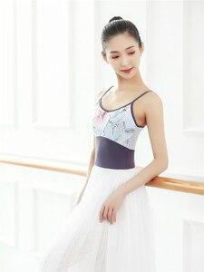 Image 2 - Women Gymnastics Leotard Ladies Camisole Dancewear Dance Clothing Costumes Professional Gymnastic Ballet Leotards for Women