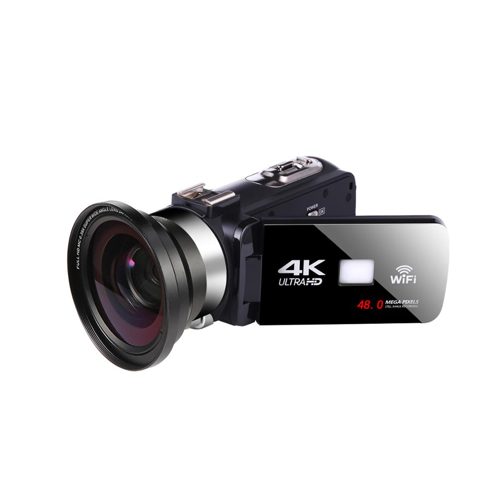 KOMERY 4K Video Camcorder 48MP Webcam Touch Screen Vlogging For Youbute WIFI Nightshot Video Digital Camera image