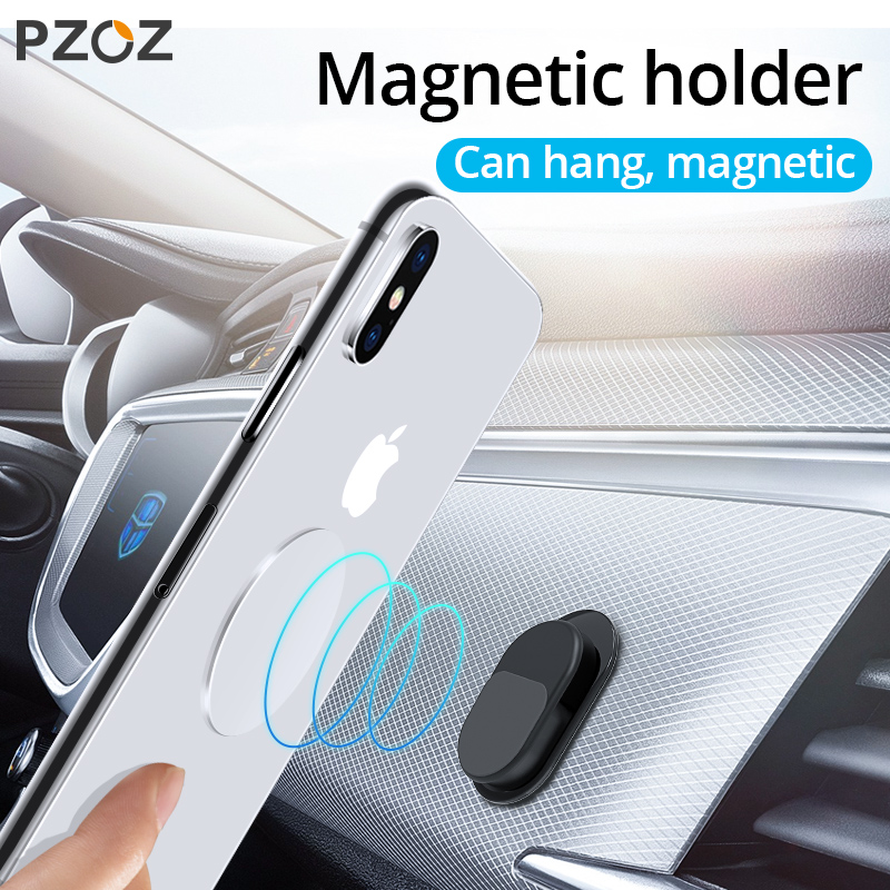 PZOZ Magnetic Car Holder For Phone In Car Trunk Seat Hook Holder Universal Desk Stand For Iphone Samsung Xiaomi Car Phone Holder