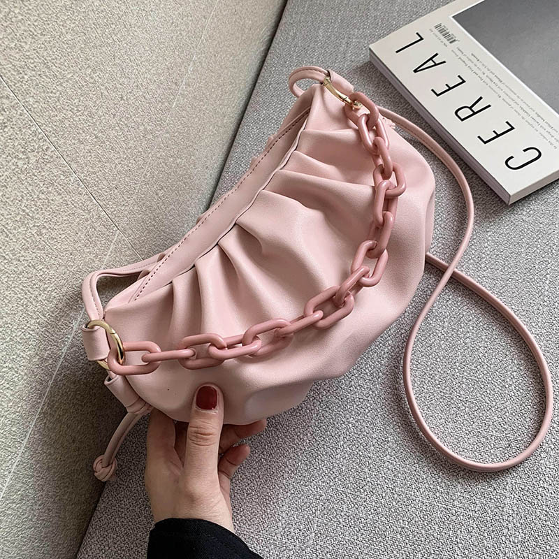 Candy Color Cloud Cross Bags For Women 2020 Summer Cute Shoulder Messenger Bag Lady Crossbody Handbags