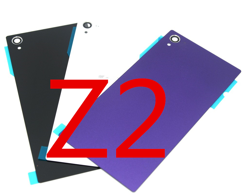 Top A quanlity new For <font><b>Sony</b></font> xperia <font><b>Z2</b></font> Back Glass L50W D6503 rear Back <font><b>Cover</b></font> Glass Housing <font><b>Z2</b></font> <font><b>Battery</b></font> Housing with sticker image