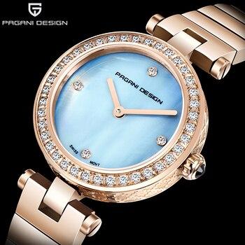 PAGANI DESIGN 2019 Women Watches Ladies Brand Luxury Gold Female Sapphire Crystal Quartz Watch Waterproof Dress Relogio Feminino
