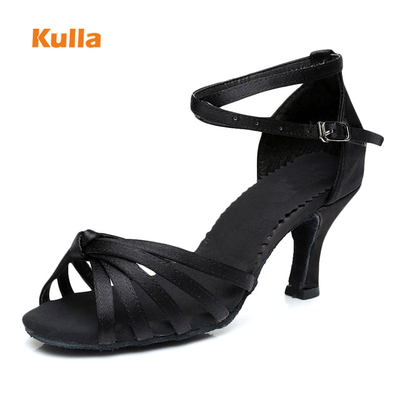Women Latin Dance Shoes Ballroom Salsa Tango Dance Shoes 5cm 7cm High-Heeled Soft Outsole Woman Dancing Shoes Wholesale