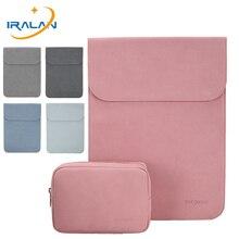 Новая магнитная пряжка тонкий PU кожаный матовый ноутбук рукав сумка для Macbook Air 13 чехол 14 Pro 15 Touch Bar чехол для ноутбука