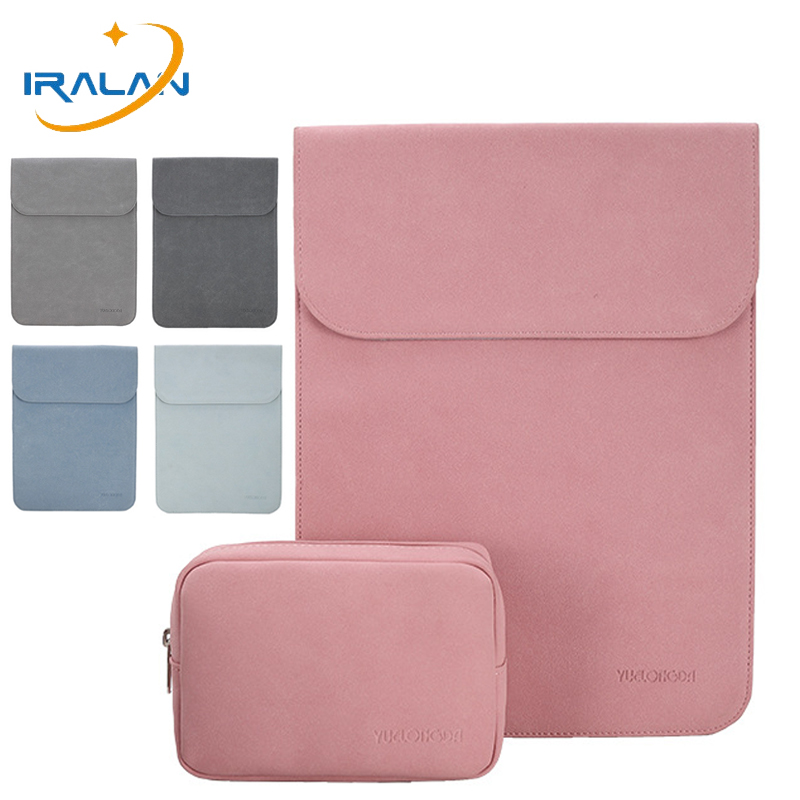 2019 New Magnetic Buckle Slim PU Leather Matte Laptop Sleeve Bag For Macbook Air 13 Case 14 Pro 15 2018 Touch Bar Notebook Cover