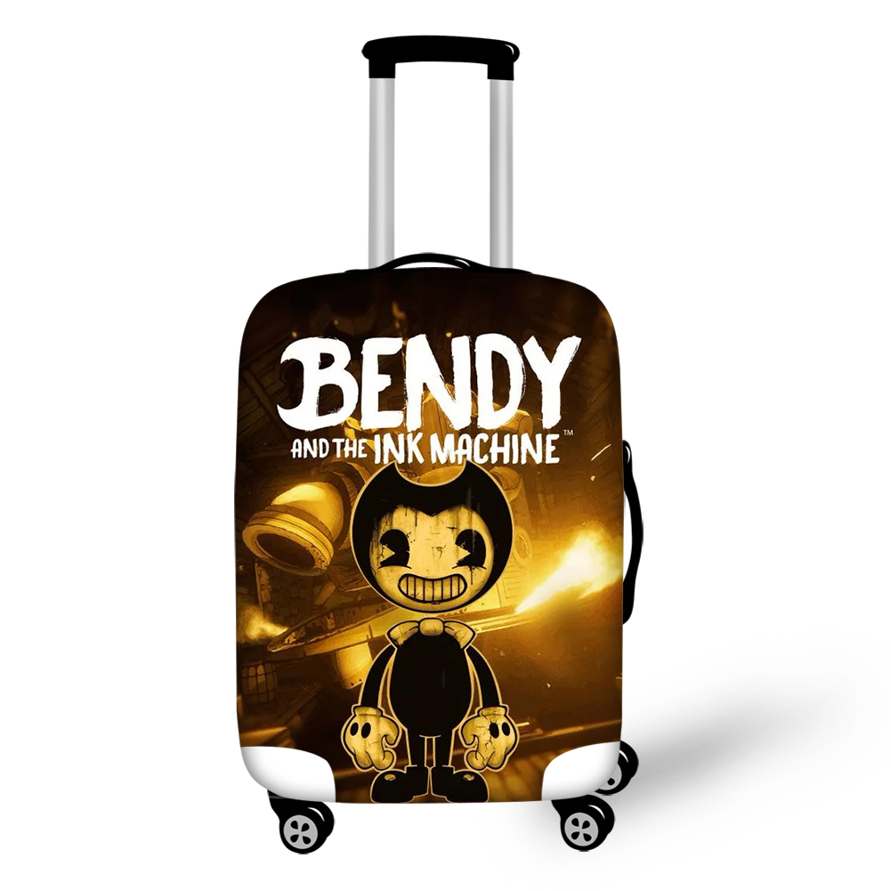 HaoYun Travel Luggage Cover Bendy And The Ink Machine Pattern Suitcase Cover Cartoon Elastic Dust-proof &Water-proof Protector