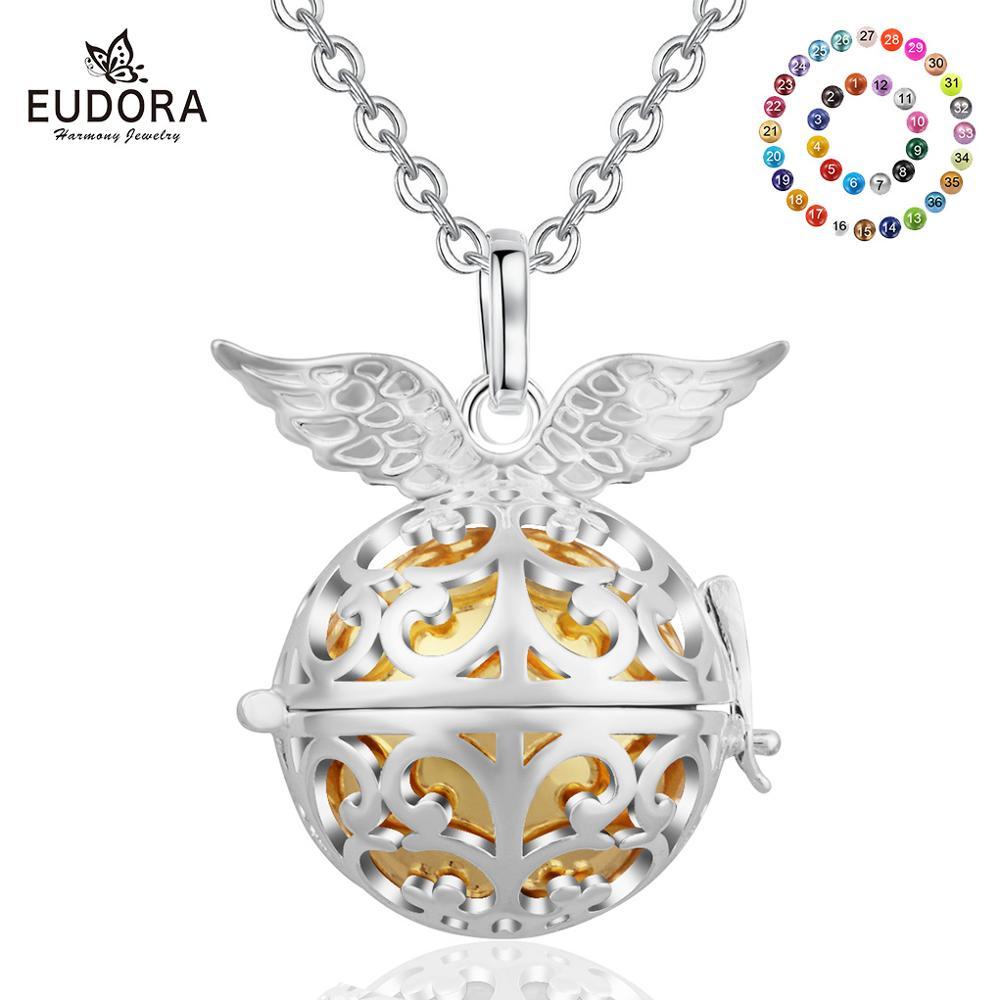 Eudora Harmonie Ball Anhänger Schmuck Kupfer Metall Engel Anrufer Anhänger mit 20MM Chime Ball Baby Sound Mexcain Bola Weihnachten geschenk