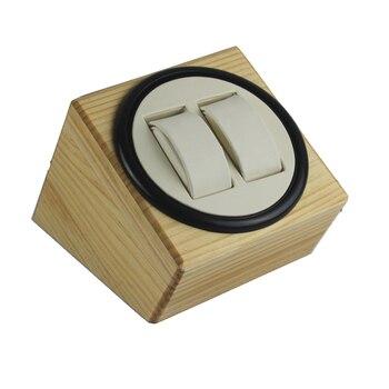 Envío Gratis, caja bobinadora para reloj de madera 2 + 0BW para relojes mecánicos para hombre