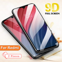 2PCS Full Cover Glass For Xiaomi Redmi K20 Pro Global 6 6A 7 7A 5 plus new 9D Note 9H Screen Protector