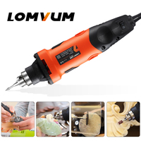 LOMVUM 400W Mini Electric Drill Engraving tool Grinding Machine Powerful Metal Cutting Renovation Rotary Tools Grinder Carving