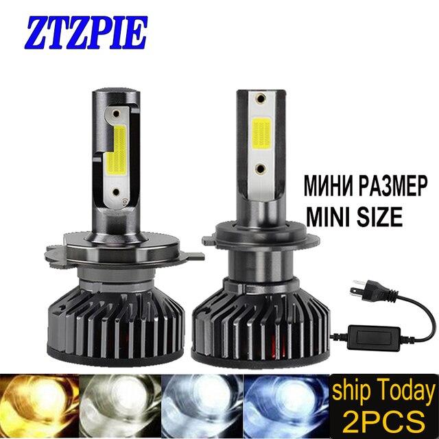 ZTZPIE 12V Led 3000K 4500K 6000K 8000K 12000LM 9005 H1 H4 الصمام العلوي H3 H7 H11 9006 في Canbus لمبات Led السوبر مشرق ضوء 2 قطعة