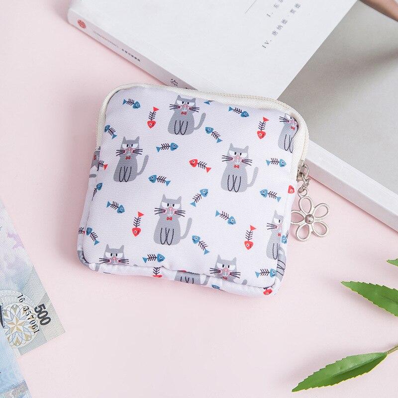 ETya мультяшная мини-сумка для монет для женщин и девочек с принтом кота, кошелек для монет, держатель для карт, кошелек, сумки для денег, наушники, посылка, подарки для детей - Цвет: 1