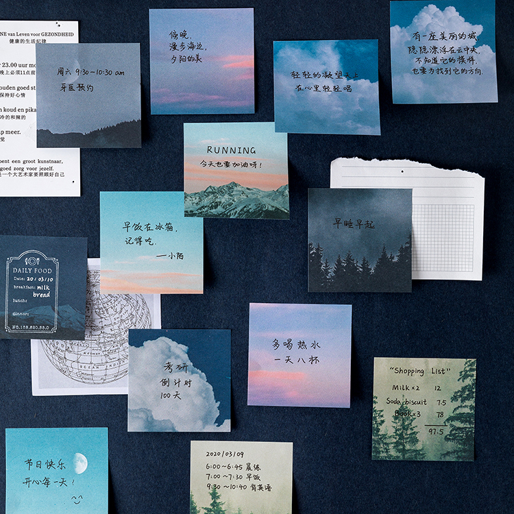 60 lap / csomag csillag erdő téma aranyos memo pad matricák - Jegyzettömbök és füzetek - Fénykép 3