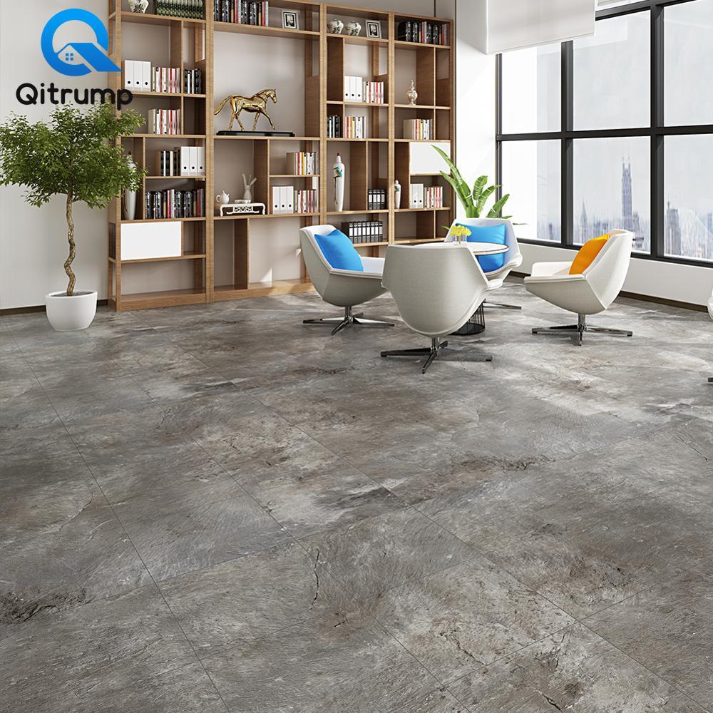 Self Adhesive Living Room Marble Wallpapers PVC Waterproof Kitchen Bathroom Floor Stickers Non-slip Ground Decals Contact Paper