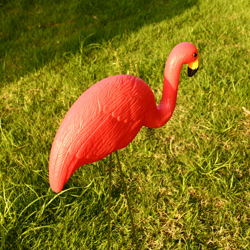Flamingo Lawn Decoration Artificial Plastic Flamingo Figurines Yard Flamingo Ornament Lifelike Arts Wedding Garden Ornaments