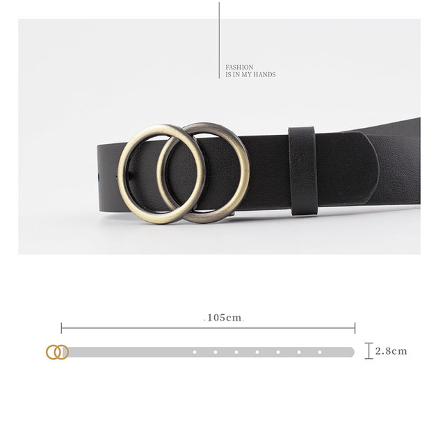 Luxury fashion  korean Round buckle casual belt 5