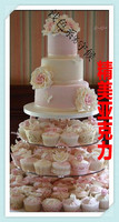 Factory direct sale 7 tier round removable acrylic frame wedding cake tower birthday cake decoration acrylic cupcake stand