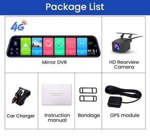 Image 5 - 4G רכב DVR 12 אינץ חדש אנדרואיד 8.1 GPS WiFi אחורית 1080P עבור אוטומטי מקליט רכב מראה HD וידאו דאש מצלמת Registrator FM