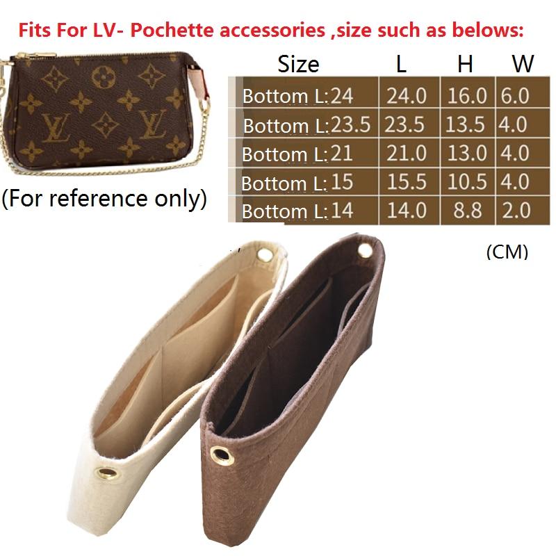 For Pochette Accessories Bag Purse Insert Organizer Makeup Handbag Travel Organizer Inner Purse Cosmetic Bag Toiletry Bag