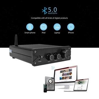 Hifi Bluetooth 5,0 Tpa3116 2,0 Amplificador De Audio DE POTENCIA ESTÉREO 100W X2 Pcm5102A Decodificación Dac Para Home Theater (plata)