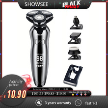 Hair-Trimmer Electric-Shaver Adult-Razor Professional Rechargeable USB 4D for Men -'s