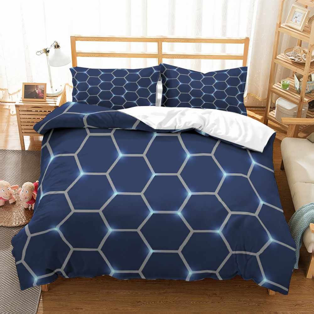 Abstract Geometry Microfiber Duvet Cover Set Marble 3D Print Bed Linen Set Twin Full Queen King Size Bedding Set Home Textiles