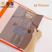 8K Painting Display Folder With Handle Sketch Presentation Book 60 Transparent Pockets Candy Color 460*345mm(18.11