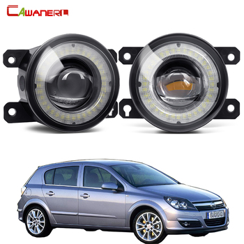 2 Pieces Car Front Bumper Fog Light Assembly LED Angel Eye Daytime Running Light DRL 30W H11 12V For Opel Astra G H 1998-2010 image