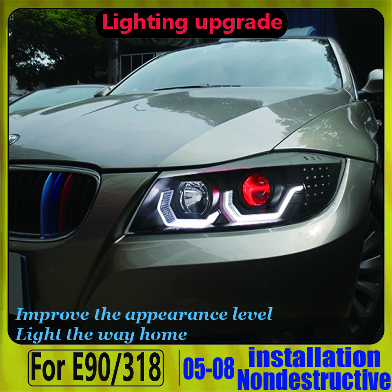 Devil Eye Headlight  For BMW FOR BMW E90 320i 323i 325 330 335 2006-2012  LED Headlights LED Headlight