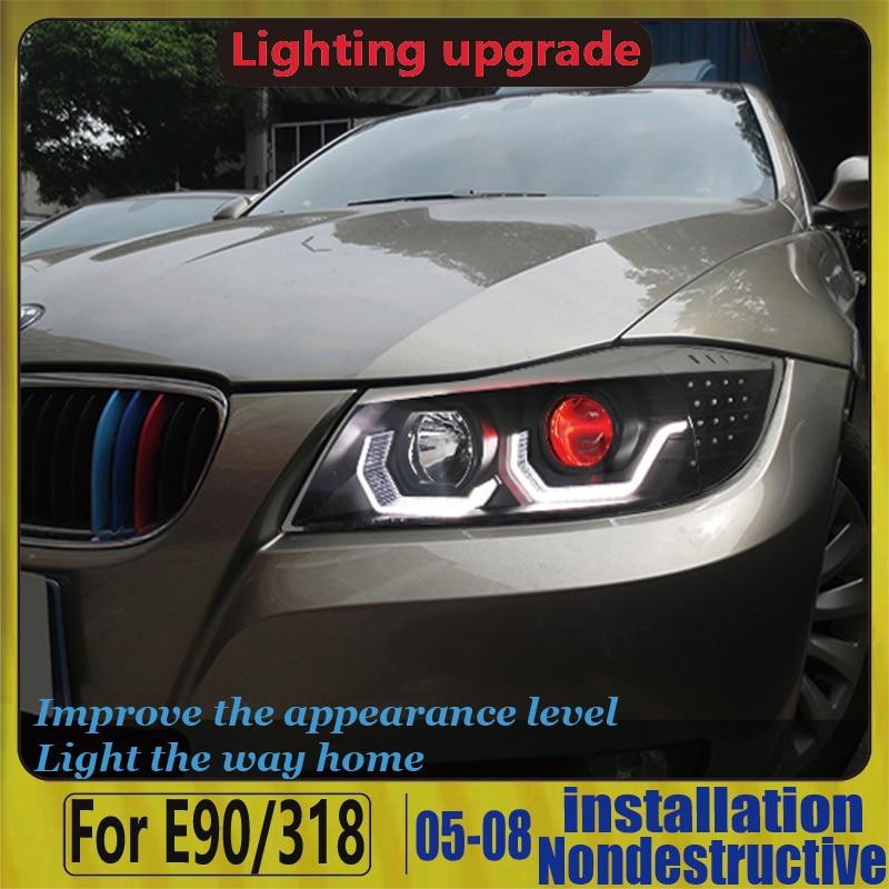 Devil Eye Headlight  For BMW FOR BMW E90 320i 323i 325 330 335 2006-2012  LED Headlights LED Headlight