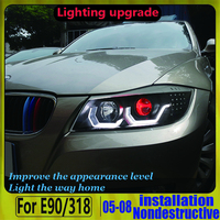 devil eye headlight for BMW FOR BMW E90 320i 323i 325 330 335 2006 2012 LED Headlights LED Headlight