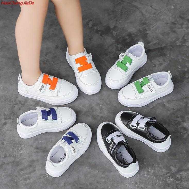 เด็กรองเท้าฤดูใบไม้ร่วงหญิงแฟชั่นสบายๆรองเท้าผ้าใบชาย Breathable กีฬารองเท้าเด็กวิ่งรองเท้าสีขาว