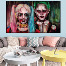 Movie Back To The Future Posters Wall Art Joker Harley Quinn Canvas Painting Wall Pictures for Living Room Oil Painting Prints wall art canvas print back to the future 1 2 3 hot movie poster for living room decor bar decoration