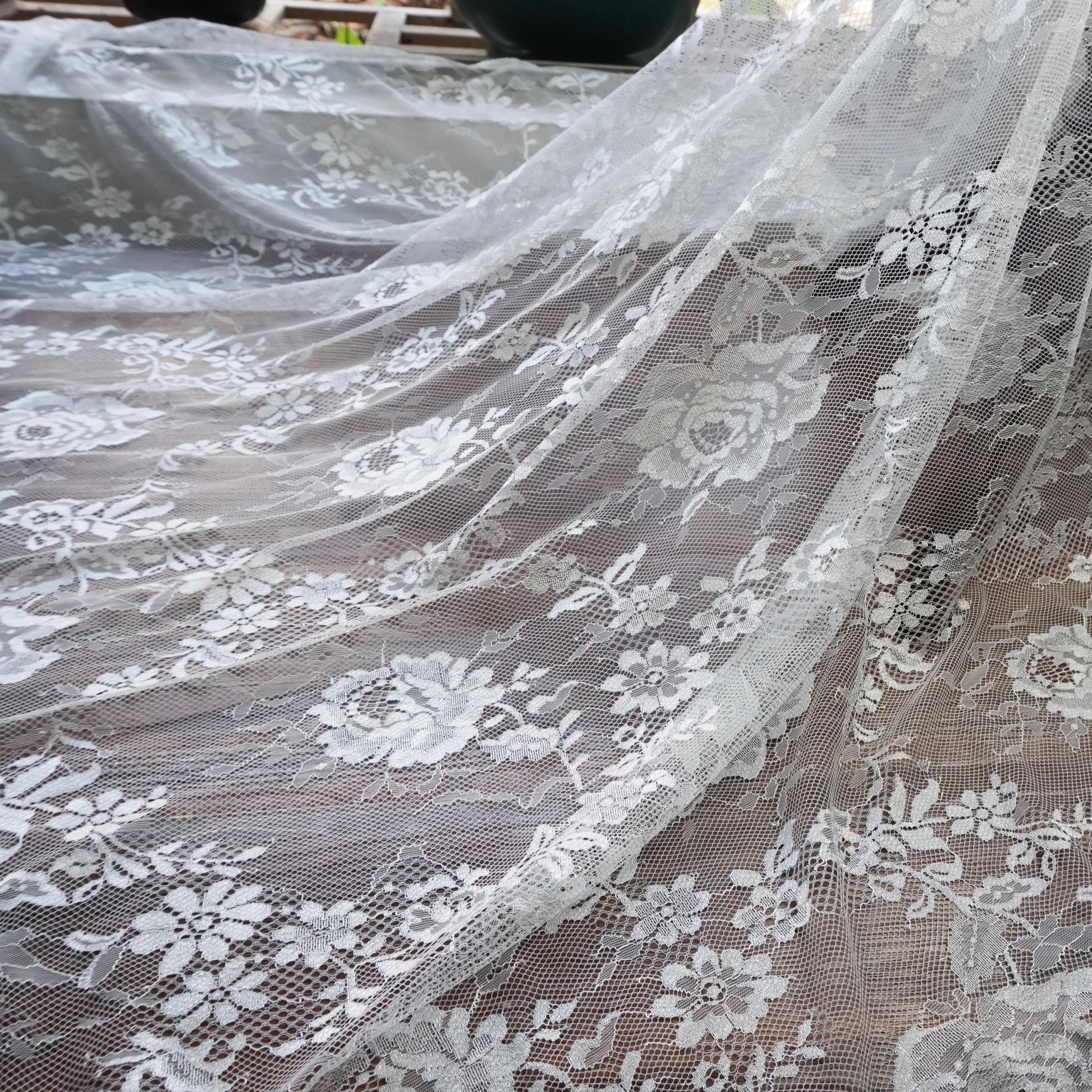 Lace Eyelash Inelastic Mesh Fabric DIY Bridal Wedding Dress Making Materials
