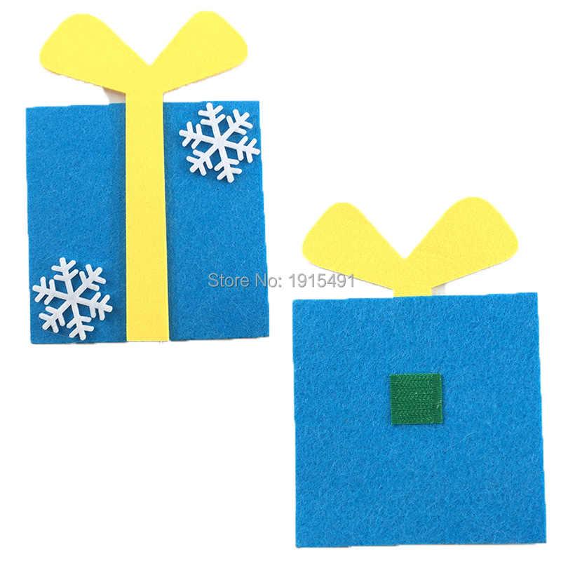 Novidade crianças presentes de ano novo com tira led sentiu árvores de natal/boneco de neve/elk festa favores para parede pendurado pingente de natal mun
