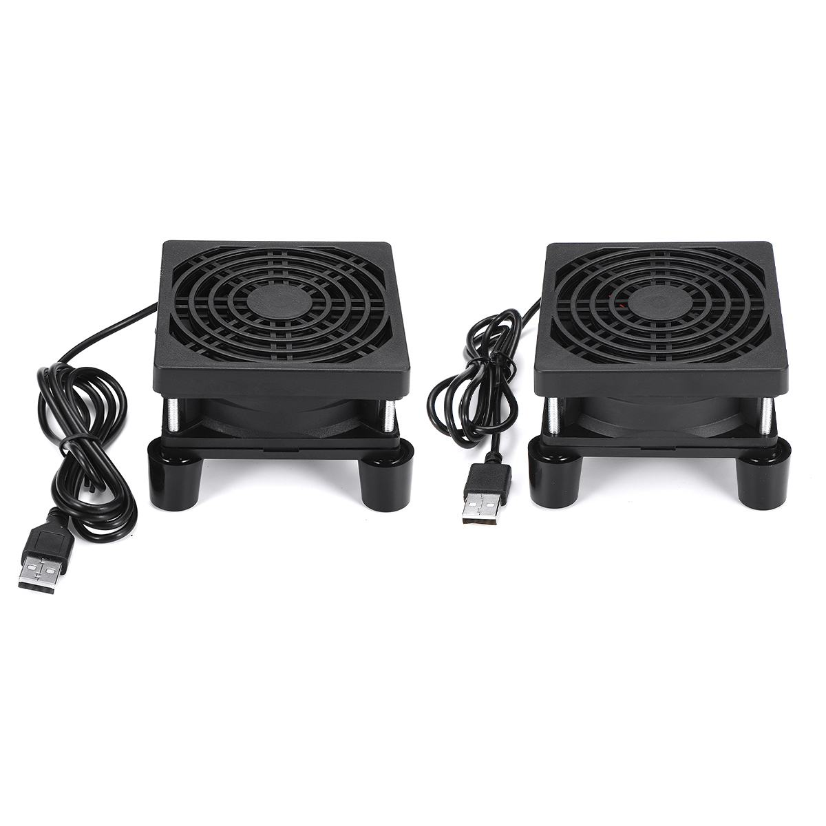 DIY 8cm Router Cooling Fan Rack For TV Box Speed Controller PC Cooler Wireless Cooling Fan Quiet 5V USB Fan With Protective Net