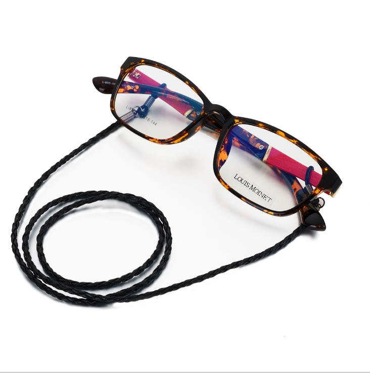 PU Twist Rope Glass Chain Color Cords Reading Glasses Chain Fashion Women Sunglasses Accessories Lanyard Hold Straps