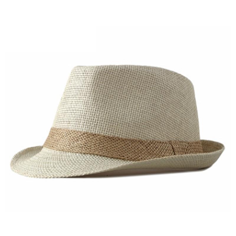 BISONJS 2020 Модные мужские шляпы для джаза, уличные одноцветные шляпы для отдыха, женские пляжные соломенные кепки для путешествий, летние дышащ...