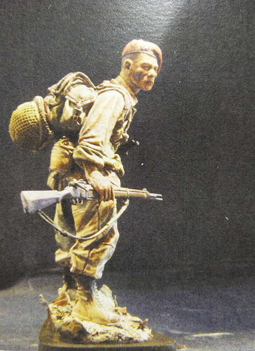 1/16 Modern French Paratrooper 120mm (NO BASE ) Resin Figure Model Kits Miniature Gk Unassembly Unpainted