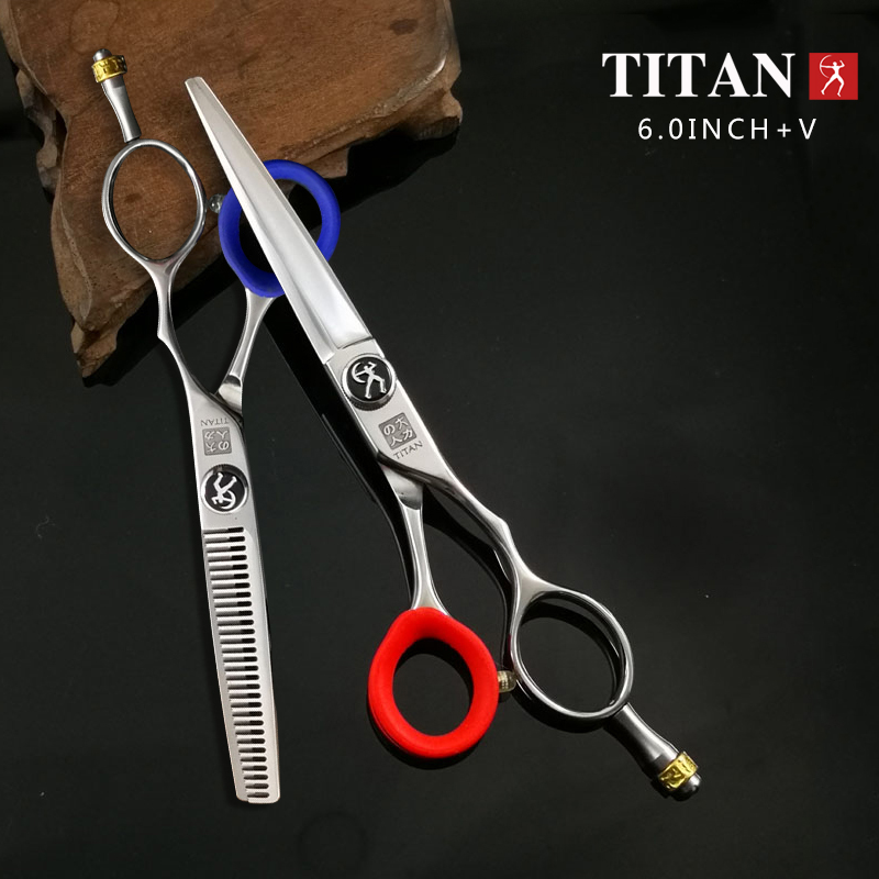 Titan Professional hairdressing scissors set barber salon cutting thinning scissors ножницы для стрижки shear 5.5inch 6.0inch