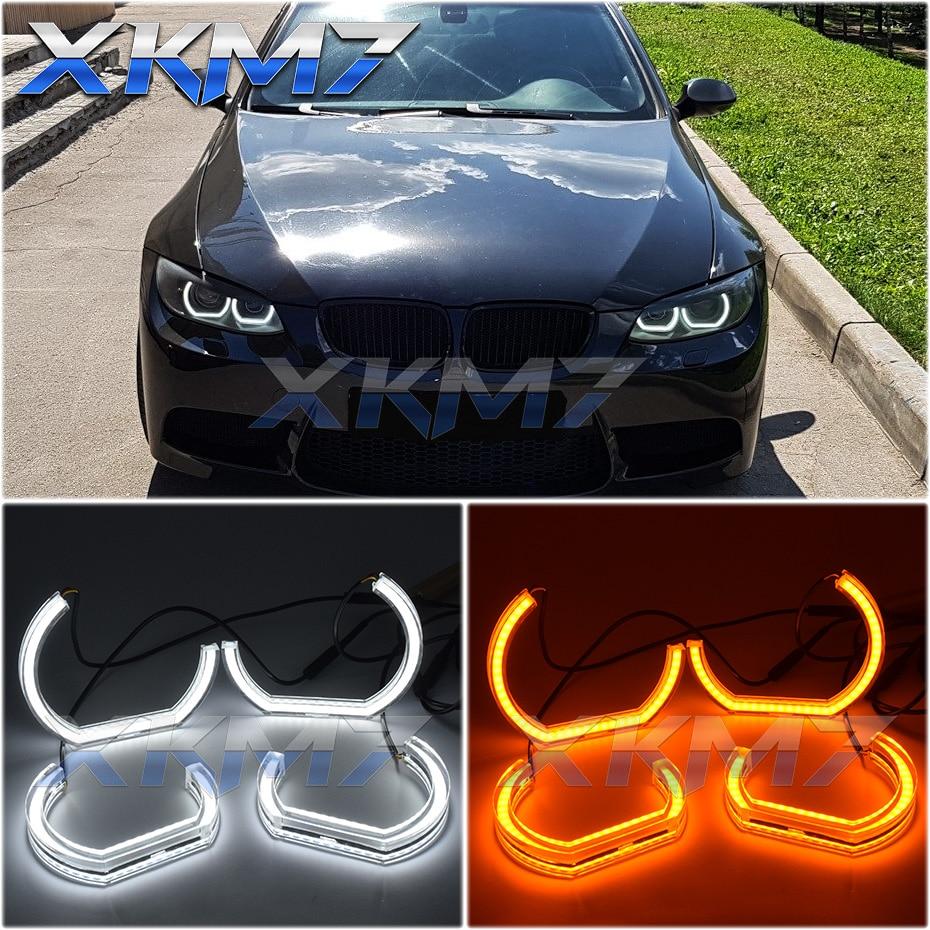 LED Angel Eyes DTM Halo For BMW E90 E91 E92 E93 325I 325XI 328I 328XI 330I 330XI 335I 335XI Coupe Cabriolet Xenon Headlight DIY