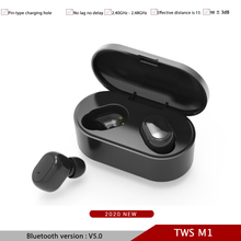 TWS M1 Bluetooth Headsets Wireless Earphones Noise Cancelling With Celling Mic Charging Box Sports Headphones For Android Phone august ep725 wireless sweatproof sports earphones for gym running active noise cancelling bluetooth headphones headsets with mic
