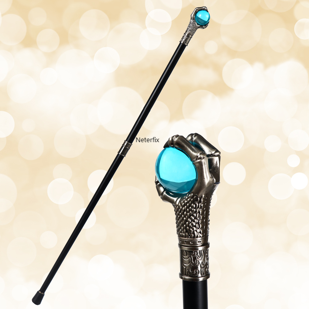Dragon Claw Mens Walking Stick Cane Fashion Party Walking Canes Elegant Hand Crutch Vintage Walking Cane with Blue Ball
