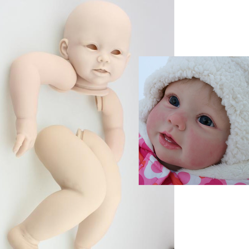REBORN DOLL KIT Bonnie Simulation silicone reborn baby doll parts DIY unpainted baby doll mould