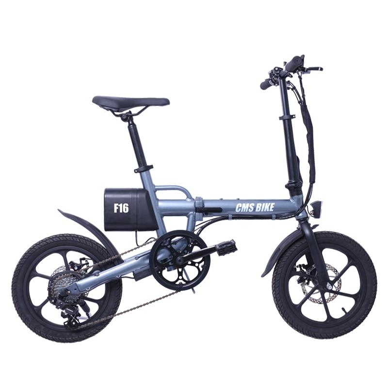 16 inch smart mini folding electric bike lithium battery powered foldable ebike for adults 1