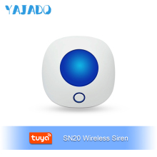 YAJADO Tuya Wireless Indoor Siren Mini Burglar Alarm for Home Security Alarm System Alarm Speaker 110dB Horn APP Remote Control