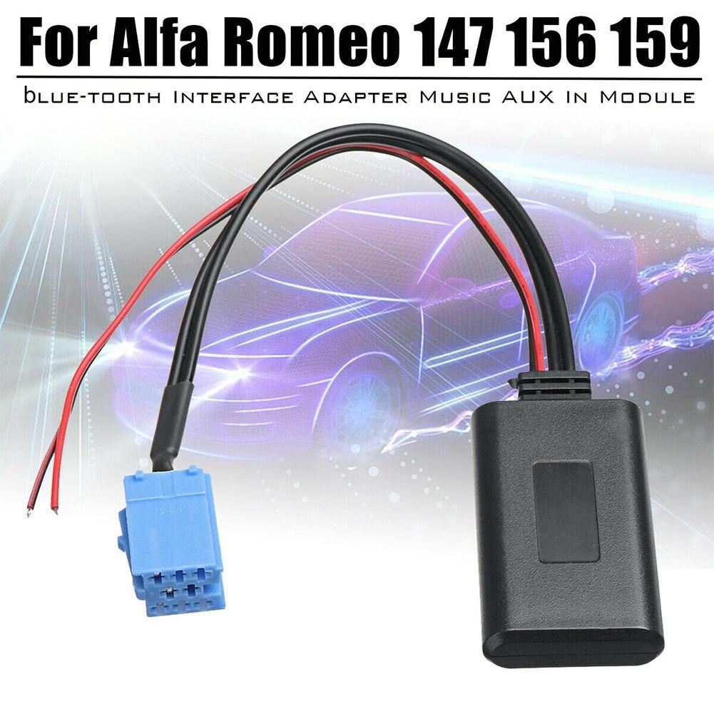 Acessórios Módulo de Música AUX Cabo Adaptador de Áudio Bluetooth Para Alfa Romeo 147 156 159 Brera Mito, substituição carro Aux Stereo