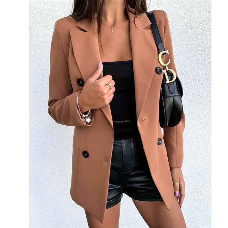 Ladies Blazer Long Sleeve Blazer Women Suit jacket Female Feminine Blazer Femme Red Khaki Black Blazer Autumn Cardigan Outwear