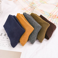 Men Fashion Solid Color Socks Winter Thickening Warm Wool Casual Cotton Socks Male Hosiery Autumn PY1908 1 5