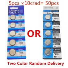 OOLAPR 5pcs ×10crad= 50pcs original brand new battery for cr2032 3v coin batteries for watch computer Free Shipping цена 2017